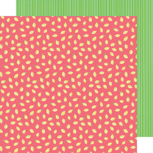 Amy Tangerine 12x12 double-sided paper featuring cute lemons on pink background