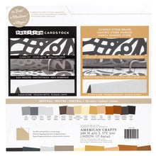 Load image into Gallery viewer, 60 Sheet Variety Pack includes 15 Neutral Colors designed to cut clean in electronic cutting machines
