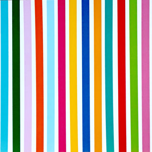 12x12 patterned cardstock with bright, multi-colored stripes on white background