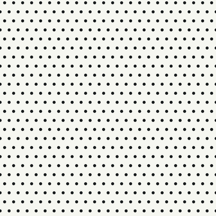 12x12 patterned cardstock with black dots on white background