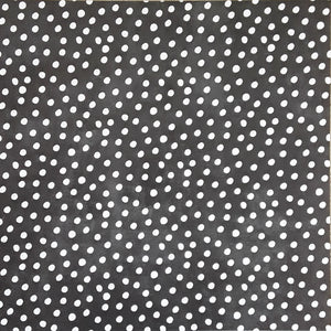 12x12 patterned cardstock with white painted dots on charcoal background