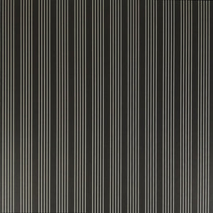 12x12 patterned paper with white quad-stripe pattern on black background - American Crafts