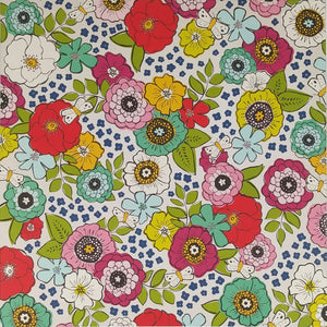 12x12 patterned paper with colorful mixed floral design - American Crafts