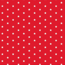 Load image into Gallery viewer, WHITE STARS on RED - 12x12 Double-Sided Patterned Paper - American Crafts