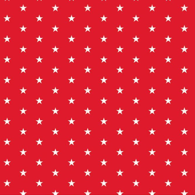 WHITE STARS on RED - 12x12 Double-Sided Patterned Paper - American Crafts