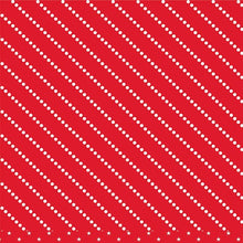 Load image into Gallery viewer, 12x12 patterned cardstock with diagonal rows of white dots on red background - American Crafts