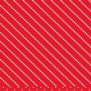 12x12 patterned cardstock with diagonal rows of white dots on red background - American Crafts