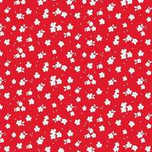 Load image into Gallery viewer, 12x12 patterned cardstock with petite white flowers on red background - American Crafts