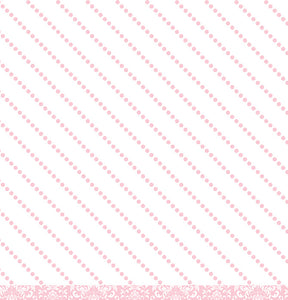 Diagonal pink dot reverse of Pink Damask 12x12 Cardstock from American Crafts