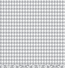 Load image into Gallery viewer, Gray houndstooth pattern is reverse side of GRAY Damask 12x12 Cardstock from American Crafts