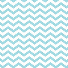 Load image into Gallery viewer, SKY BLUE CHEVRON  - 12x12 Double-Sided Patterned Paper - American Crafts
