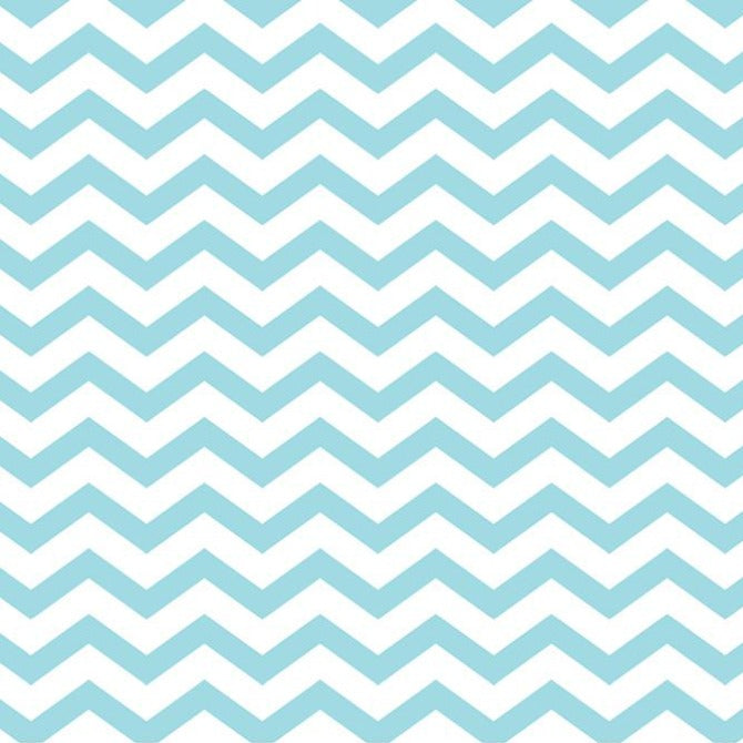SKY BLUE CHEVRON  - 12x12 Double-Sided Patterned Paper - American Crafts