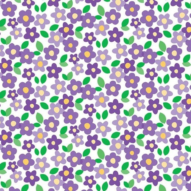 PURPLE FLORAL - 12x12 Double-Sided Patterned Cardstock