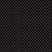 Load image into Gallery viewer, 12x12 cardstock with white on black quatrefoil pattern - American Crafts