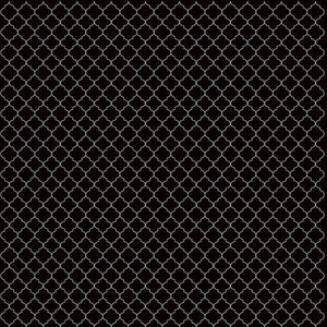 12x12 cardstock with white on black quatrefoil pattern - American Crafts