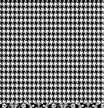 Load image into Gallery viewer, Houndstooth reverse of BLACK Damask 12x12 double-sided paper from American Crafts