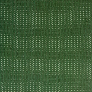 12x12 patterned cardstock with white dots on green background