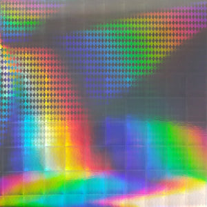 Holographic diamond design on 12x12 foil cardstock - American Crafts