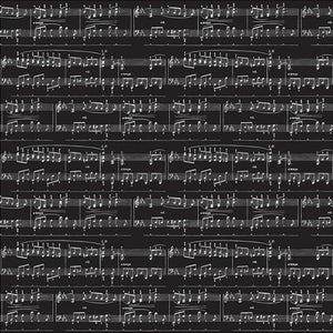 Silver foil sheet music on 12x12 black cardstock from American Crafts Specialty Paper