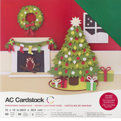 Christmas Colors -Variety Pack-60 ct-12x12 inch-80 lb-textured cardstock-American Crafts