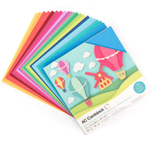 Load image into Gallery viewer, Fan layout of 20 colors of Bright Cardstock in BRIGHTS Variety Pack by American Crafts