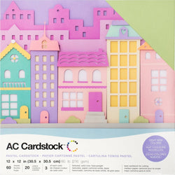 Pastels colors-variety pack-60 ct-12x12 inch-80 lb-textured cardstock-American Crafts