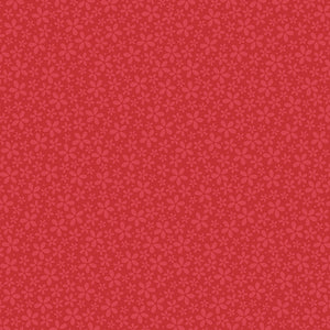 12x12 patterned paper with petite, light red flowers on red background - core'dinations