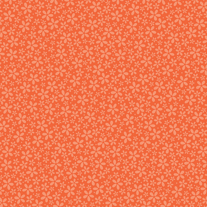Petite ORANGE DAISIES 12x12 patterned paper from core'dinations