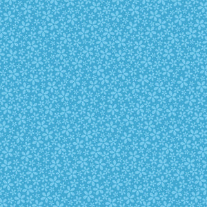 12x12 patterned cardstock with blue-on-blue petite flower print - by Coredinations
