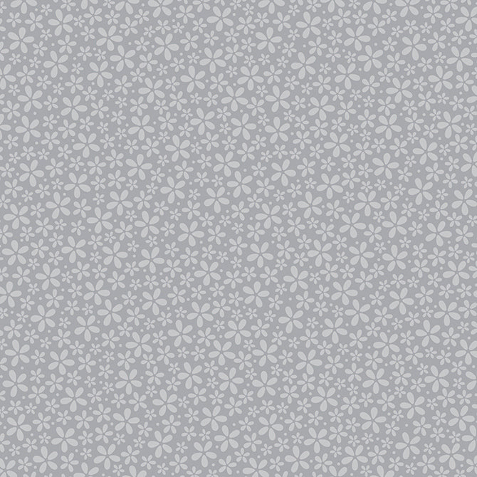 12x12 patterned cardstock with petite, light gray daisies on gray reverse - coredinations