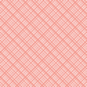 12x12 cardstock with coral pink plaid pattern - by coredinations