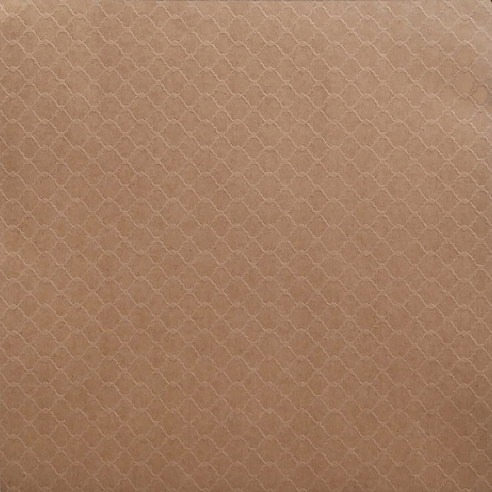 12x12 Kraft cardstock with delicate embossed lattice - Recollections