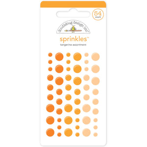 TANGERINE Sprinkles - 54 enamel dots in 3 orange colors from Doodlebug Design