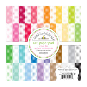 SWISS DOT Petite Prints Collection - 6x6 Pad with 24 double-sided pages from Doodlebug Design