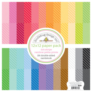 DOT and STRIPE Rainbow Petite Print Collection from Doodlebug Design