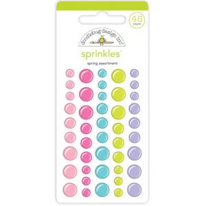 SIMPLY SPRING SPRINKLES self-adhesive enamel dots in pastel colors - by Doodlebug Design