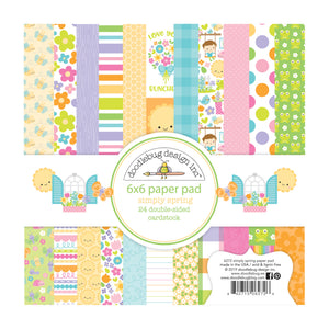 6x6 Paper Pad with 24 double-sided sheets from Simply Spring Collection by Doodlebug Design