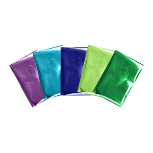 PEACOCK collection of Foil Quill™ 4x6 inch foil sheets for your foiling projects - green, violet and blue colors