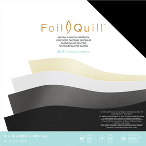 Foil Quill™ Base Cardstock layer in neutral colors - 60 sheets of smooth, 12x12 cardstock - 80 lb
