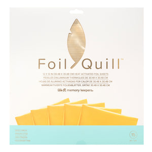 GOLD FINCH foil sheets - 12x12 inch - 30 count - use with Foil Quill™ foiling system