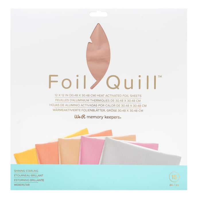 Shining Starling 12x12 Foil Pack has 30 foil sheets and 5 colors for Foil Quill projects
