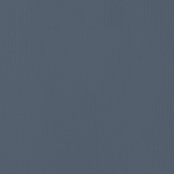 BLUEBERRY blue-gray cardstock - 12x12 inch - 80 lb - textured scrapbook paper - American Crafts