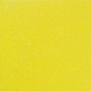 YELLOW NEON 12x12 glitter cardstock from American Crafts