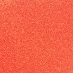 ORANGE NEON 12x12 glitter cardstock from American Crafts