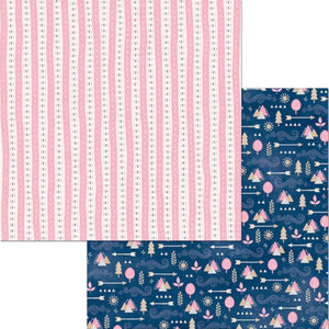 12x12 double-sided paper called Sophia by BoBunny - featuring pinks and blues