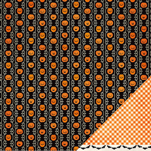 PUMPKIN PATCH - 12x12 double-sided patterned paper - Pebbles - Halloween theme
