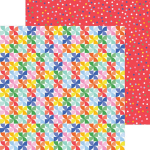 PINWHEELS - 12x12 Double-Sided Patterned Cardstock - Pebbles