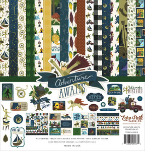 ADVENTURE AWAITS 12x12 Cardstock Collection Kit from Echo Park Paper Co.
