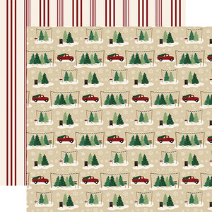 Tree Farm - 12x12 double-sided cardstock from A Cozy Christmas Collection by Echo Park Paper Co.