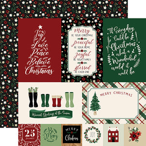 Journaling Cards - 12x12 double-sided cardstock from A Cozy Christmas Collection by Echo Park Paper Co.
